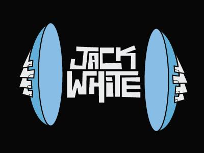 My Idol jack white jack white hands cymbals type custom type light blue blue powder blue black illustration third man records poster music