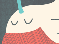 a whale (part of the Girls flyer)