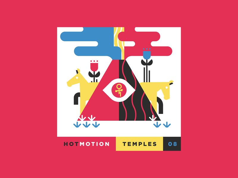 no. 8 - Temples - Hot Motion 2019 top albums 10x19 illustration album art explosion flower eye horses horse beam volcano hot motion temples