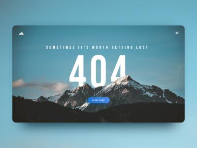#DailyUI 08 — 404 Page