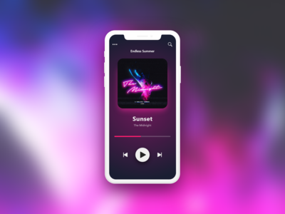 #DailyUI 09 — Music Player