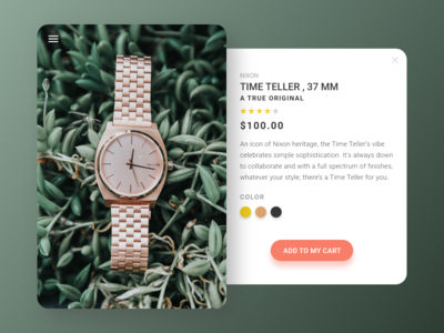 #DailyUI 12 — E-Commerce Shop (Single Item)