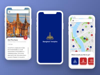 Adobe XD Playoff — Bangkok Temples