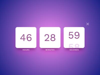 #DailyUI 14 — Countdown Timer
