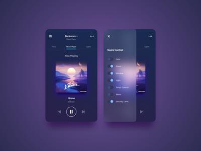 #DailyUI 21 — Home Monitoring Dashboard