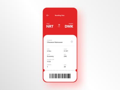 #DailyUI 24 — Boarding Pass