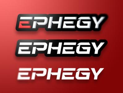 Ephegy Logo typography branding vector illustration letter esports identity gaming design logo