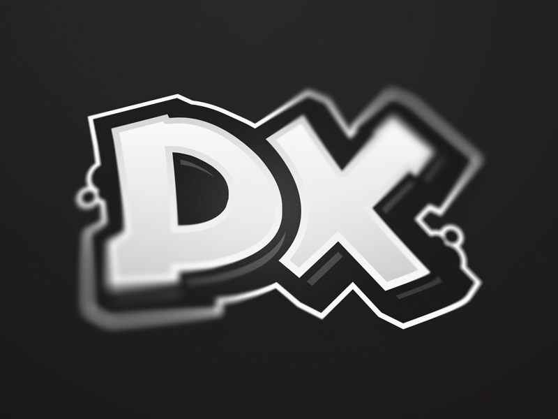 Graffiti DX Logo vector type streetart logo letters lettering letter graffiti font calligraphy