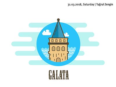 Galata Tower icon design istanbul icon istanbul galata icon galata tower