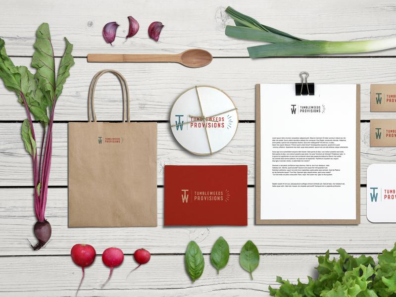 Tumbleweeds Provisions Logo and Identity produce farmers market farm identity print design vector branding logo illustration