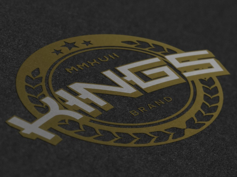 Kings logo illustration typography logotype ornate vintage brand branding logo
