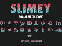 Slimey Social Media icons