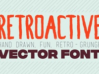 Retroactive Hand Drawn Font