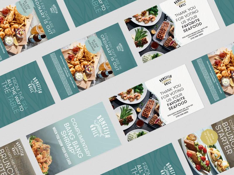 Proposed Bonefish Grill Branding Refresh digitalart marketing design marketing collateral print design restaurant seafood identity brand identity brand design branding