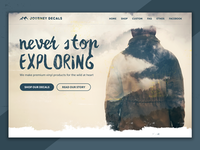 Journey Decals Landing Page