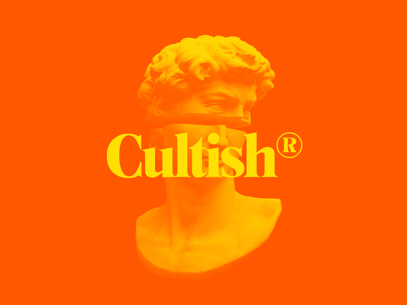 Cultish logo identity renaissance duotone typography type cultish illustration graphic custom type branding branding design