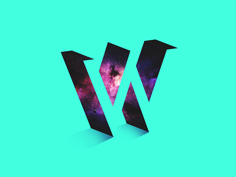 W Letter universe typography days 36 type letter w