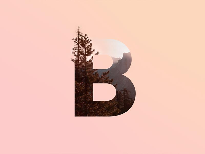 B Letter typography days 36 type lettering letter b