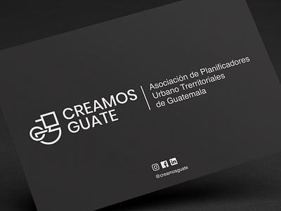 Creamos Guate Logo Design branding agency proyecto de grado guatemala asociacion urbanismo arquitectura identidad grafica material corporativo buisness card typogaphy vector branding and identity branding project pollitq