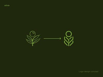 olivia logo design diseño conceptual olivia olivos abstraccion guatemala diseño de imagen visual conceptualizacion abstact icon logo branding vector illustration design pollitq