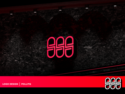 Triple S Logo Design cinema4d mockups led acrylic sign mockup design 3d mockup mockup ux face icon render logo typography branding vector digital art illustration design pollitq