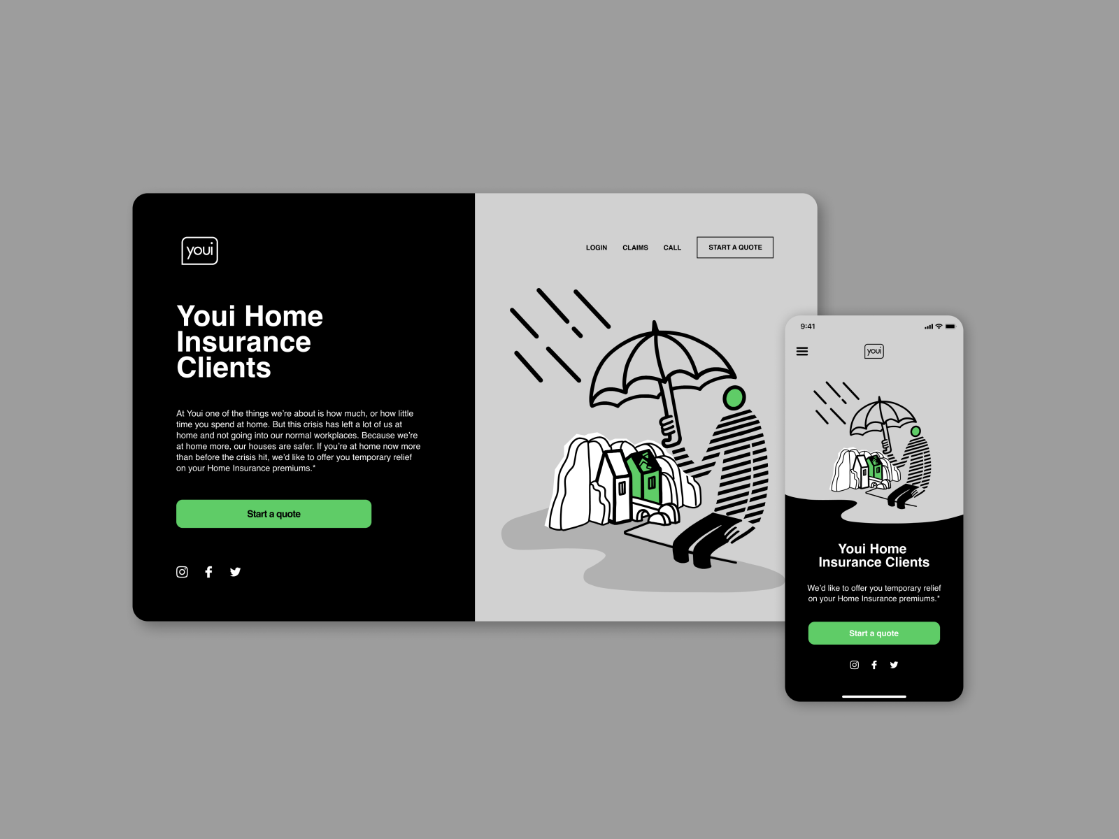 Illustration Series Landing Page For Youi Insurance By Eunjin On Dribbble