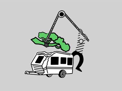Caravan & Trailer insurance for Youi  Insurance.🚐🌳🇦🇺 caravan simple illustration landing page design insurance illustration landingpagedesign uiux ui digital illustration graphic design australia lifedrawing applepencile procreate ipadpro illustration