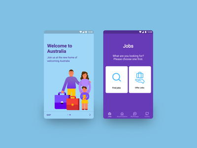 Echo mobile application andoid app ux uiux ui mobileapp australia mobile application illustration connecting echo refugees