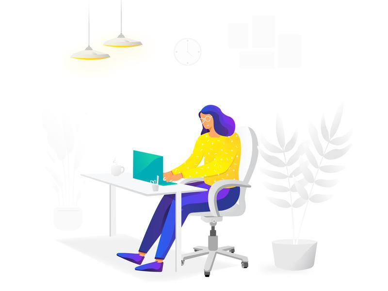 Office Series motion graphic design art work app minimal identity logo icon uiux animal graphic website 2d motion graphics branding flat vector animation illustration design