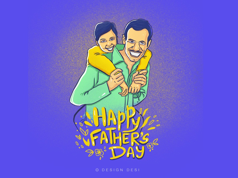 Happy Father's Day procreate app google uiuxdesign graphicdesign mobile app typography artist adobe xd calligraphy icon website invision studio animation designer branding motion graphics illustration fathers day design