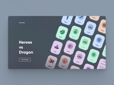 Case Study Landing Hero (Card Game Prototype)