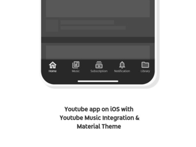 Youtube dock with updated design