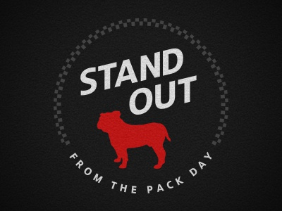 Stand Out badge illustrator design