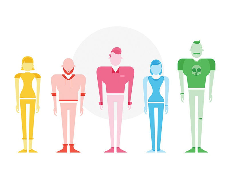 The Garage Website Characters color illustration website characters