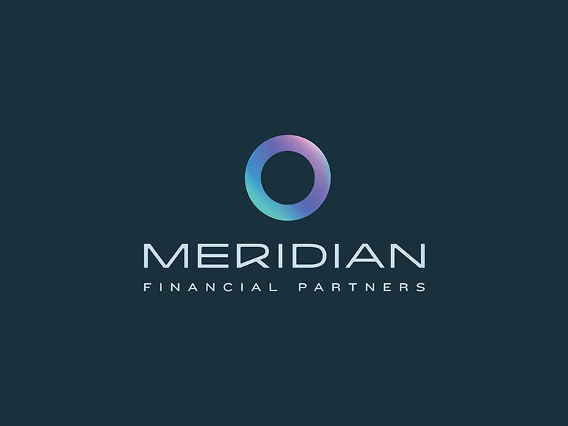 Meridian Financial Partners Logo gradient ring circle modern colorful logo