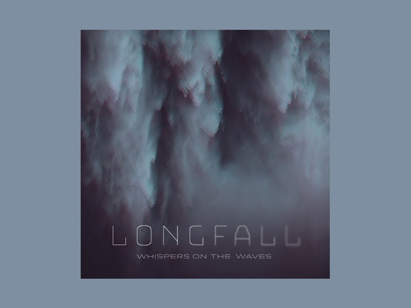 Longfall 'Whispers on the Waves' album art fall blue mood waves band music