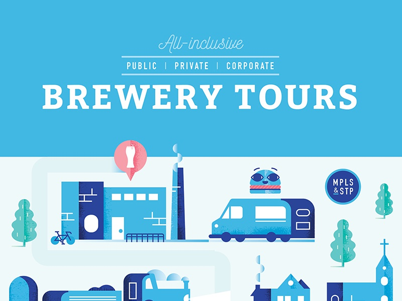 Bitter MN Brewery Tours Poster guide tour bus beer