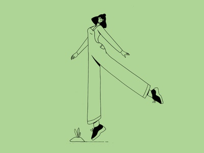 She got the sunshine in her pocket woman joy dance minimalist flat illustration illustraion girl happy