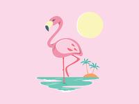 Endless Summer -Pink Flamingo