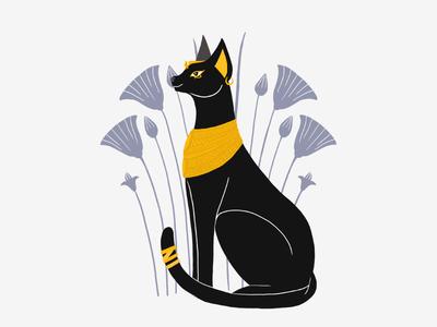 Animal Gods Of Egypt - Bastet mytology mythical creature illustraiton gods egyptian bastet cat animals ancient