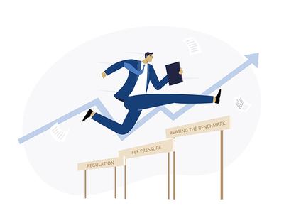 Hurdling hurdle buisnessman success sturtup finance buisness