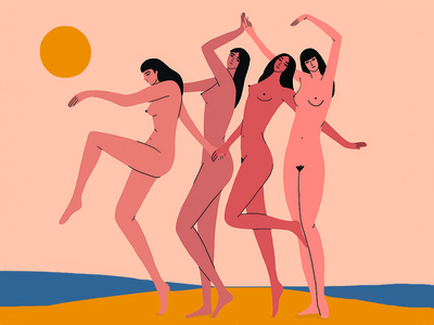 The Dance free women summer sand sun beach girls dance