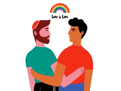 LOVE IS LOVE(2) pride tolerance togetherness equality gay lgbtq