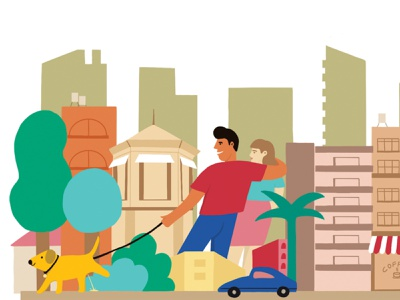 Tel Aviv 3 fun happy boulevard travel tlv israel tel aviv urban cityscape editorial design illustraion