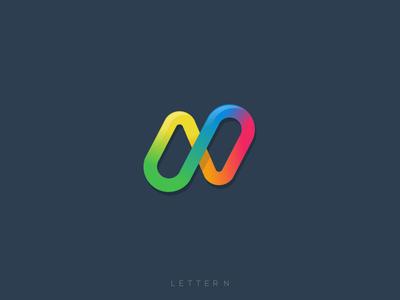 Letter N concept