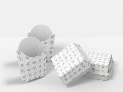 food pack, seamless pattern sample on food pack