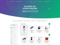 Online shop concept