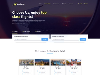 Airport's home page