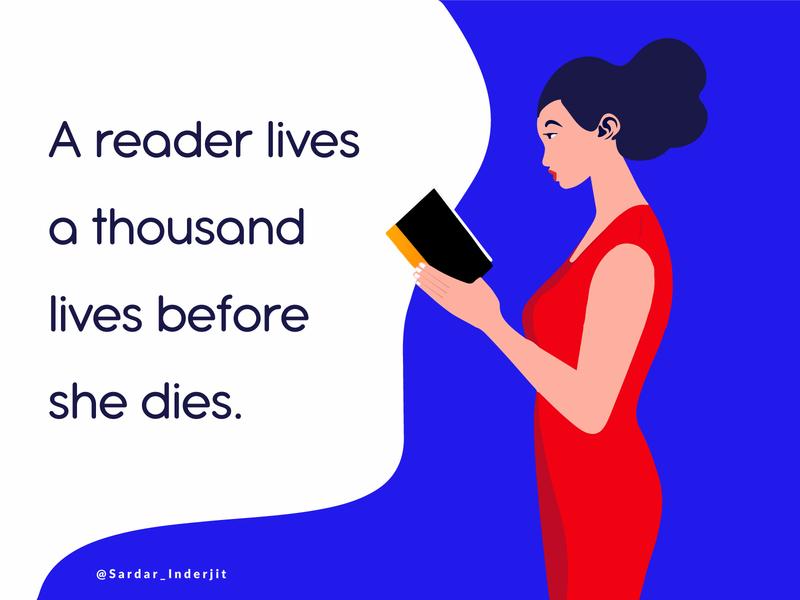 A Reader Lives Illustration Design