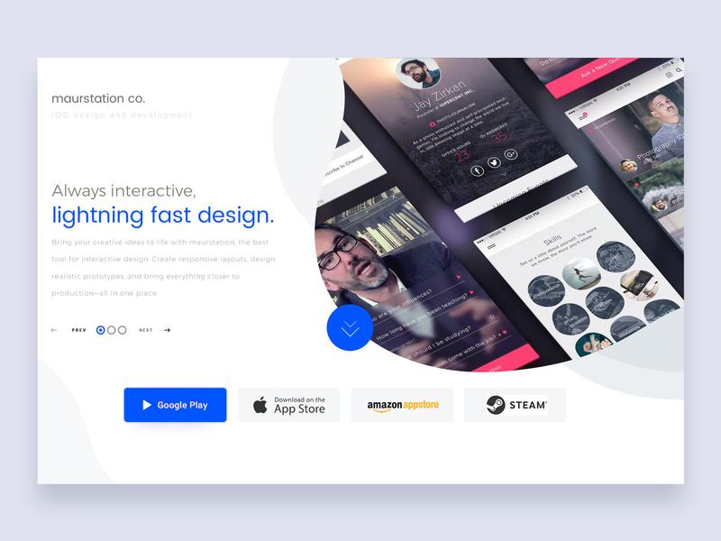 Maurstation Co branding business development typography landing page ui design application graphic design ios app game design